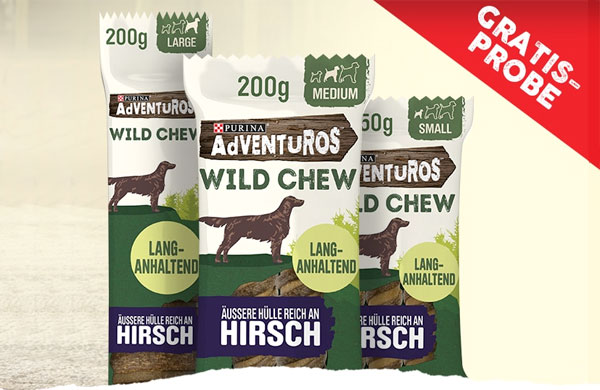 Gratisproben Purina Adventuros Hundefutter Snacks